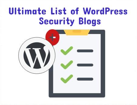WordPress security blogs