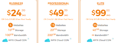 WPXhosting plans