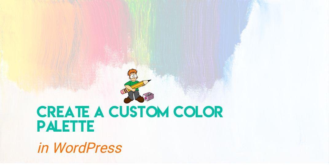 Add color palette in WordPress