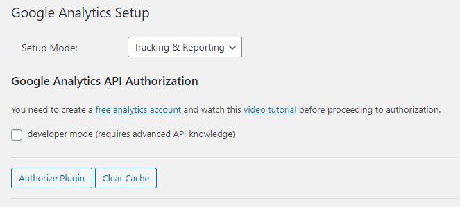 GainWP plugin authorization