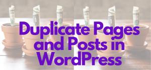 Duplicate WordPress Posts