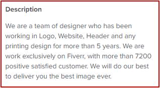 Best Fiverr Profile Description