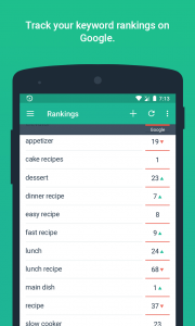 SERPmojo mobile rank tracking app