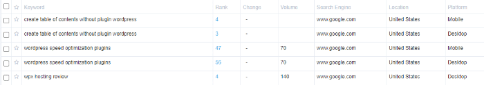Serpfox mobile rank tracking tool
