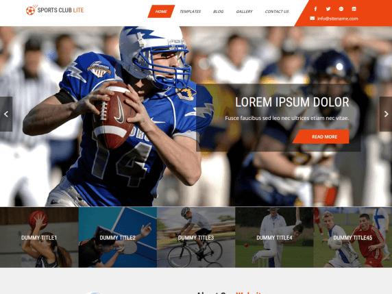 Sports blog theme