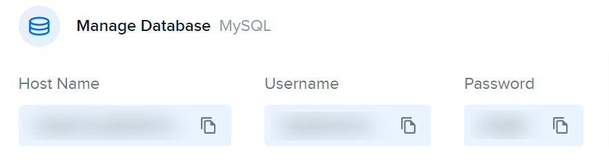 WordPress database username and password