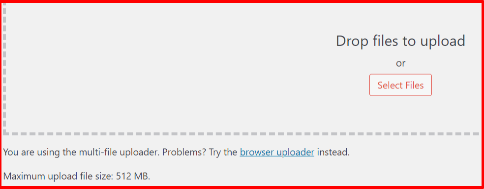 WordPress browser uploader