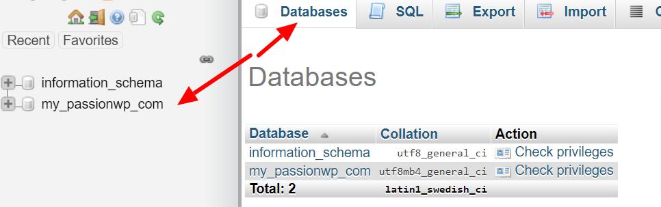 WordPress database connection error