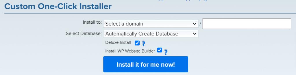 Dreamhost one-click WordPress installer