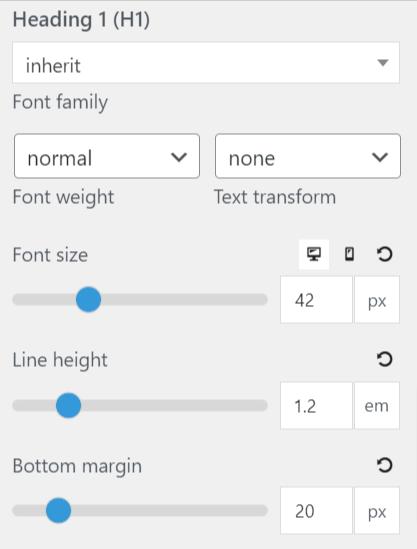 GeneratePress Free vs Pro: Font Options