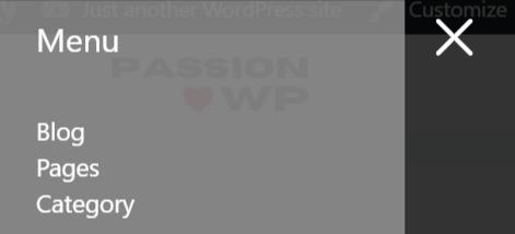 Off-canvas panel in GeneratePress Pro