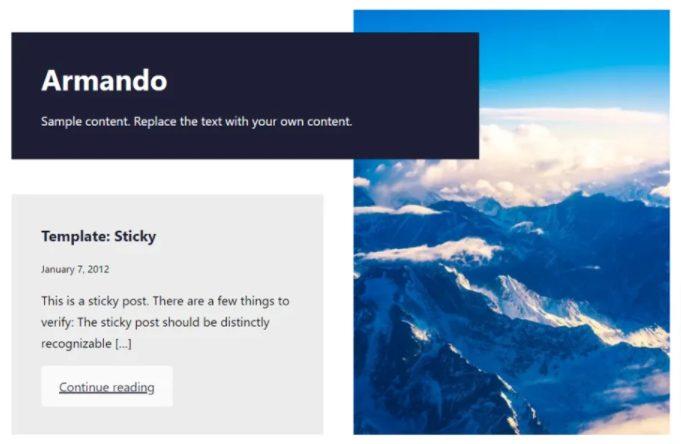 Armando full site editing theme