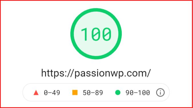 GeneratePress Page Speed Insights Test