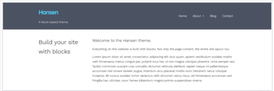 Hansen WordPress block-based theme