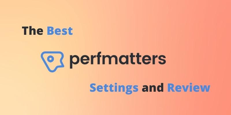Best Perfmatters Settings