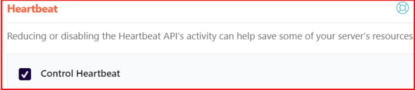 Control WordPress Heartbeat API