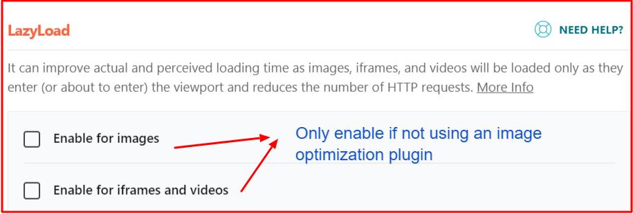 Lazyload images using WP Rocket
