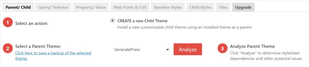 create child theme in WordPress